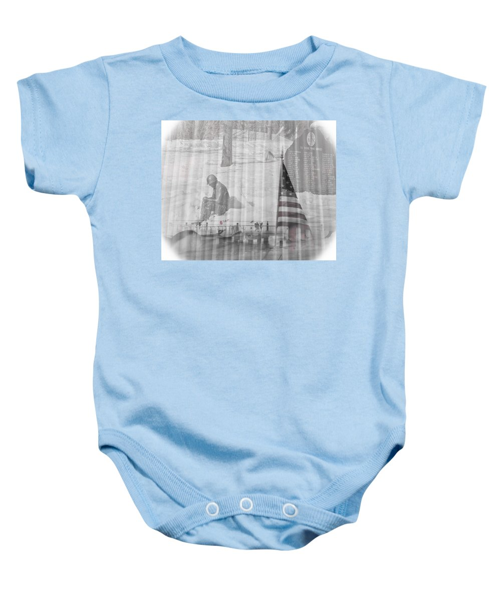 Soldier Baby Onesie featuring the photograph For Those Who Served by Trish Tritz
