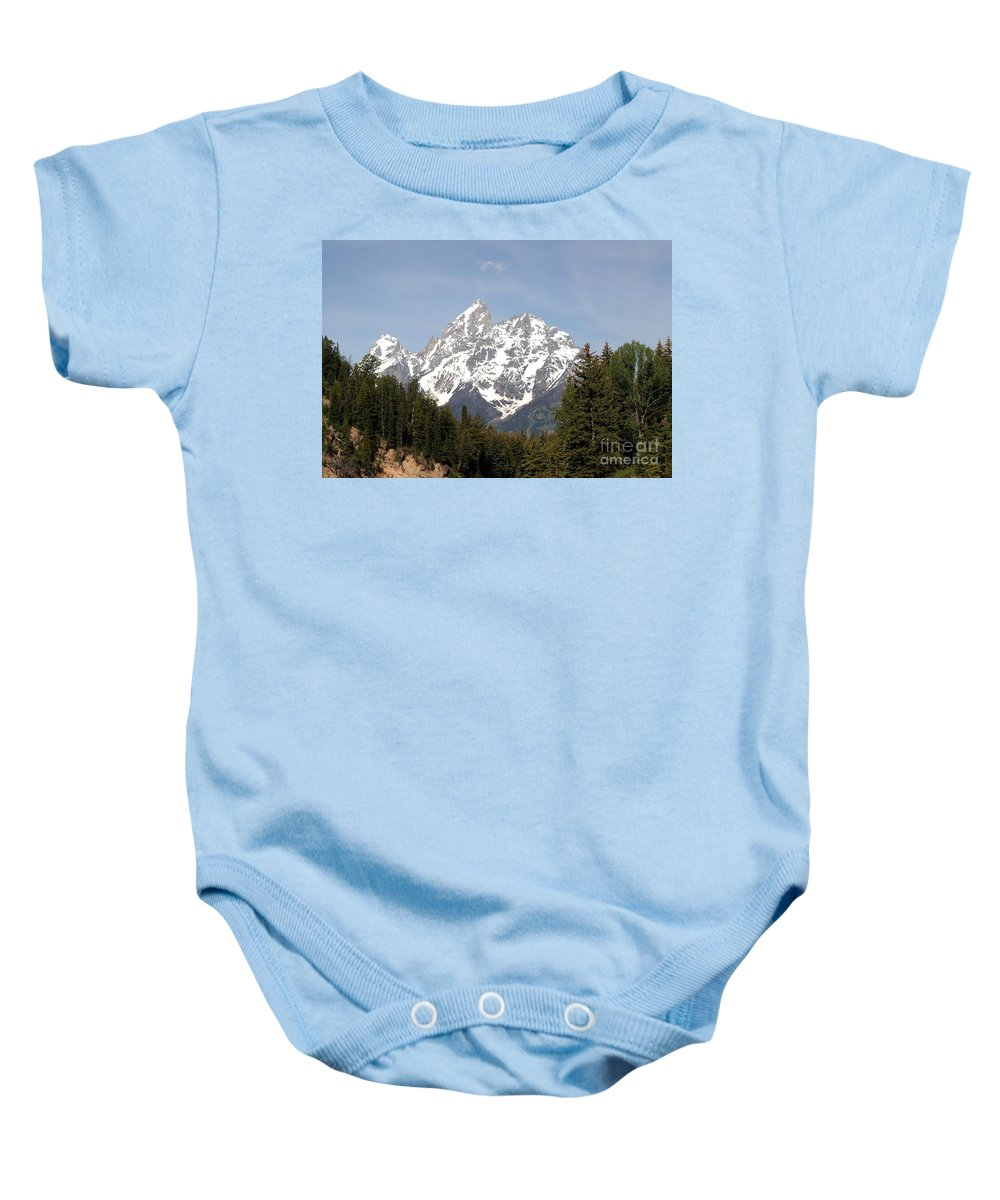 Grand Tetons Baby Onesie featuring the photograph Grand Tetons by Living Color Photography Lorraine Lynch