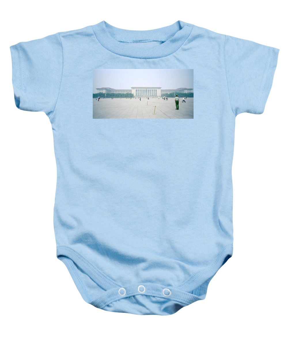 China Baby Onesie featuring the photograph Grteat Hall Of The People In Beijing In China by Shaun Higson