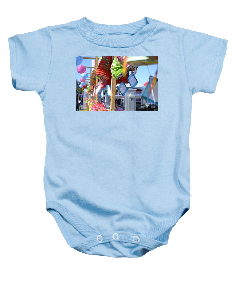 Dragon Boat Races Baby Onesie featuring the photograph Hanging Out by Traci Cottingham
