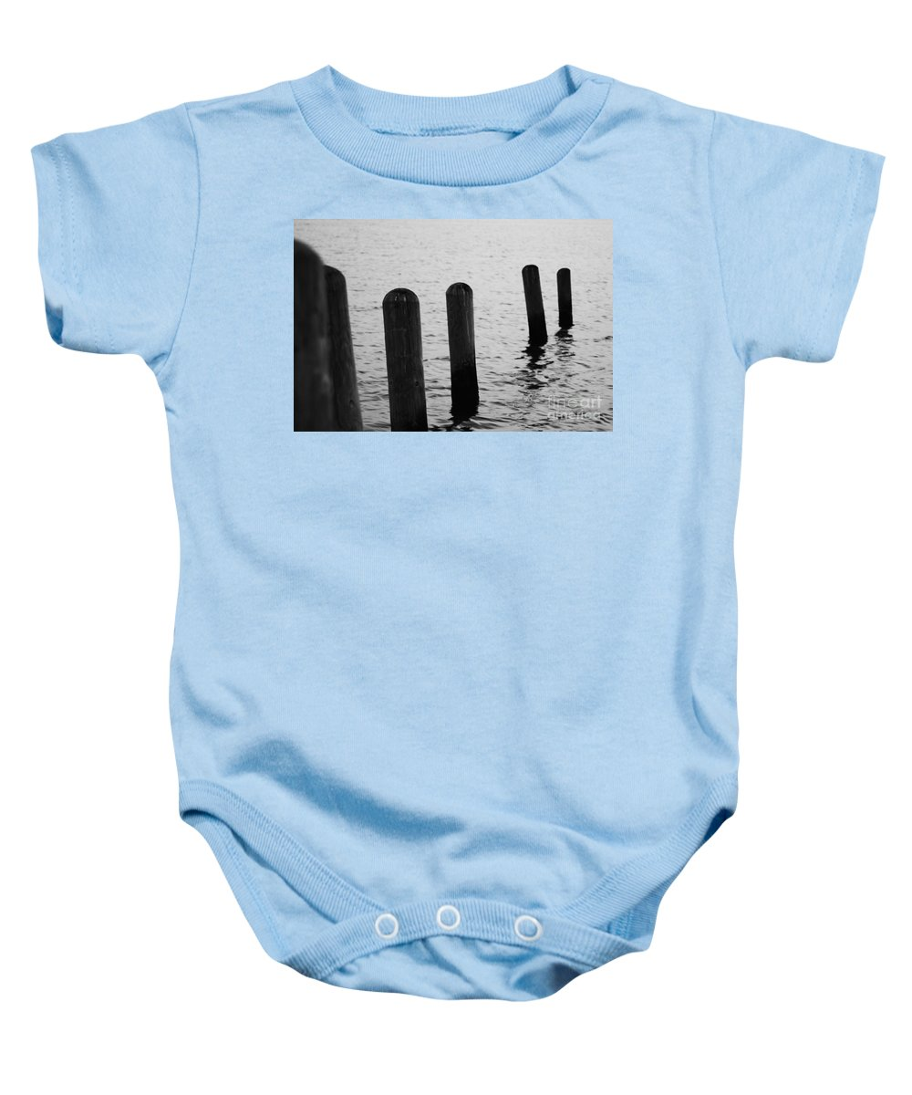 Pamlico Sound Baby Onesie featuring the photograph Harbor Ties by Tony Cooper