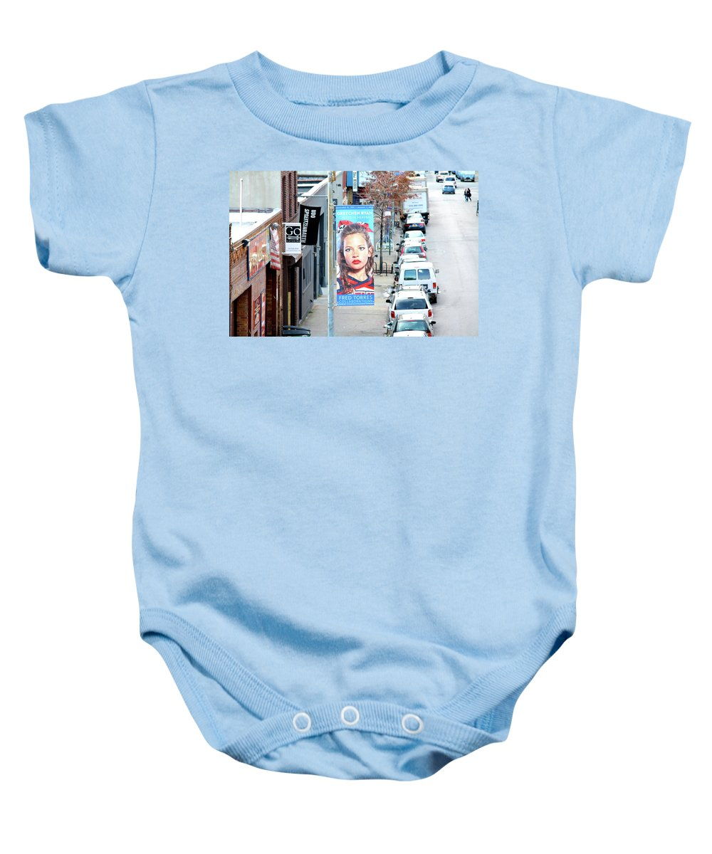 The High Line Baby Onesie featuring the photograph High Line Print 29 by Terry Wallace