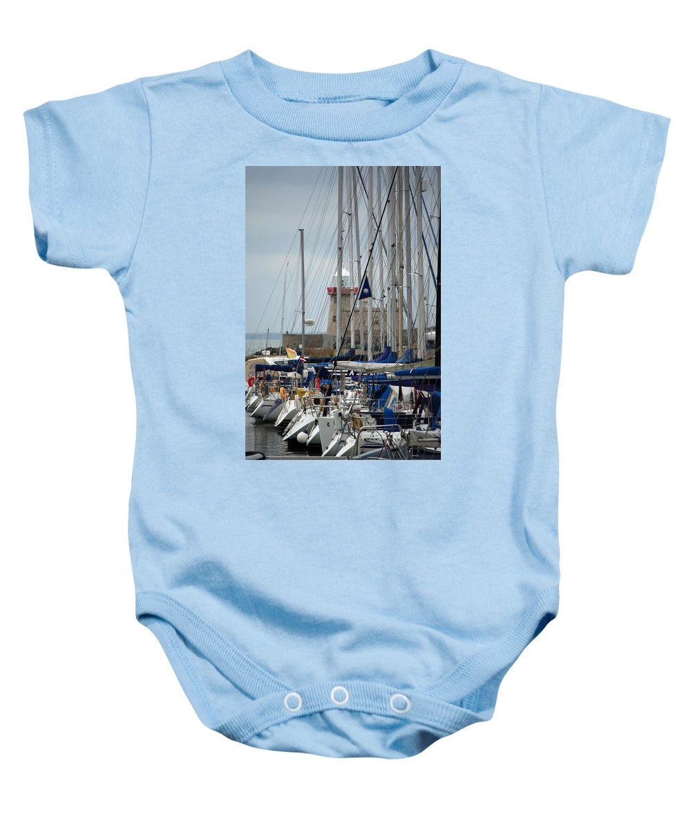 Howth Ireland Baby Onesie featuring the photograph Howth Lighthouse 0003 by Carol Ann Thomas