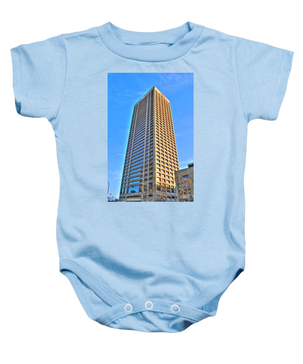 Baby Onesie featuring the photograph Hsbc Tower by Michael Frank Jr