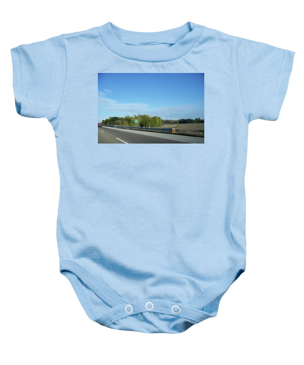 Money Creek Baby Onesie featuring the photograph I55 Crossing Money Creek by Thomas Woolworth