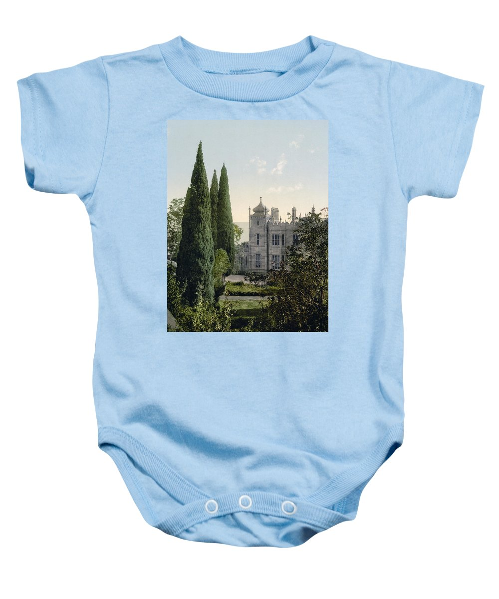 imperial Castle Baby Onesie featuring the photograph Imperial Castle In Alupku -ie Alupka - Crimea - Russia - Ukraine by Bode Stevenson