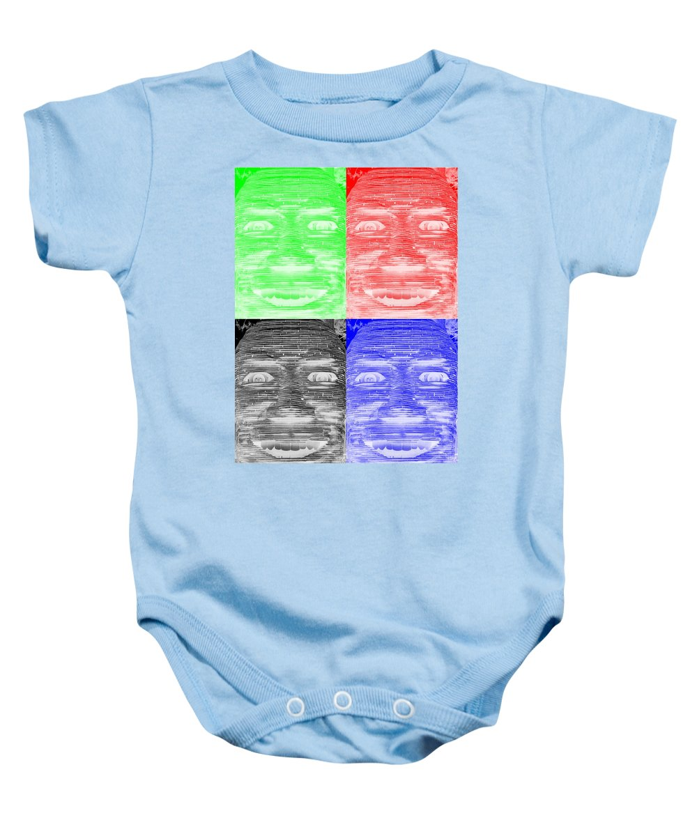 Architecture Baby Onesie featuring the photograph In Your Face In Negative Colors by Rob Hans
