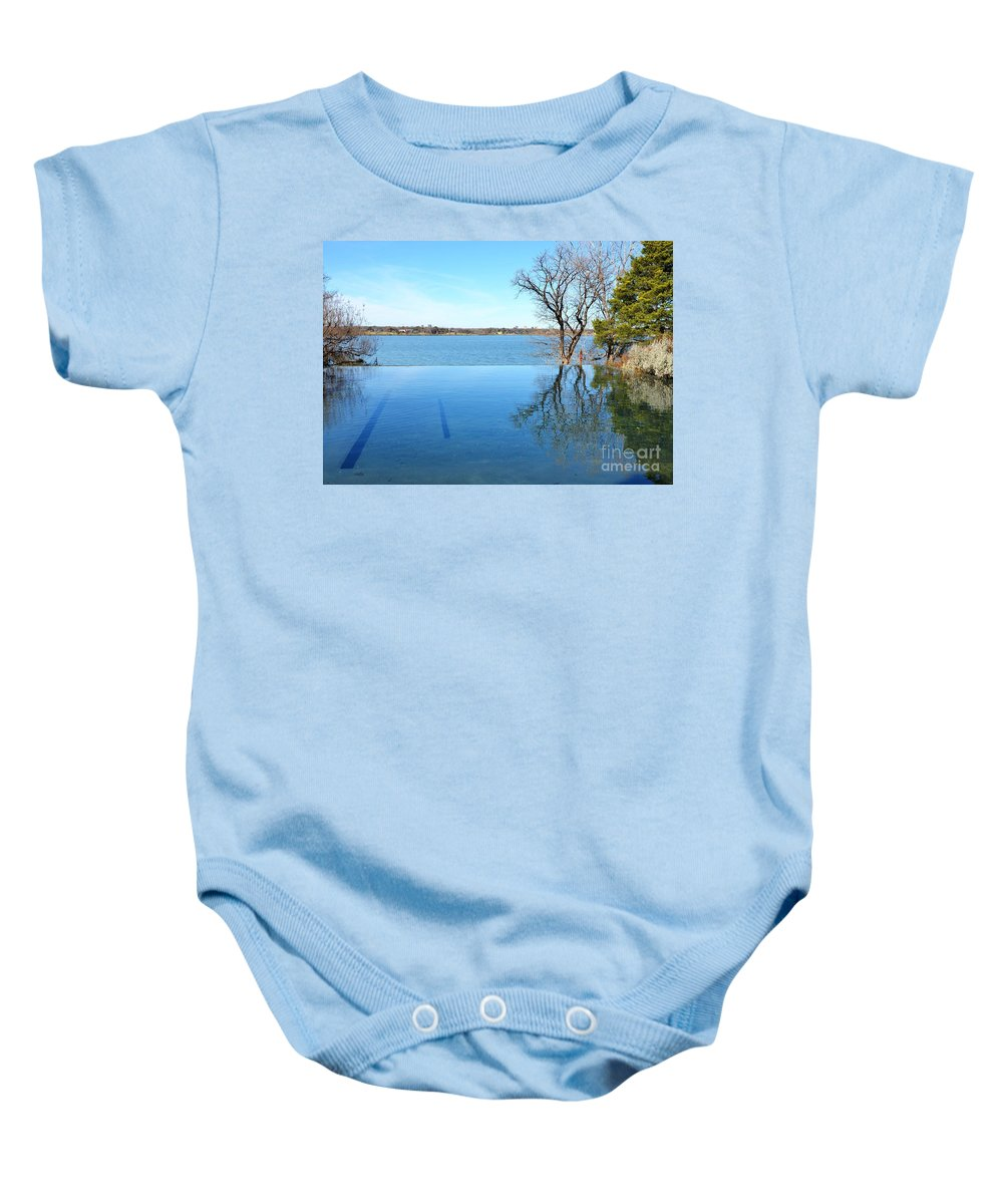 Water Baby Onesie featuring the photograph Infinity by Debbi Granruth