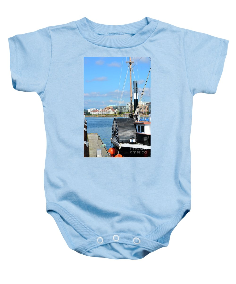 British Columbia Baby Onesie featuring the photograph Inner Harbour2 by Traci Cottingham