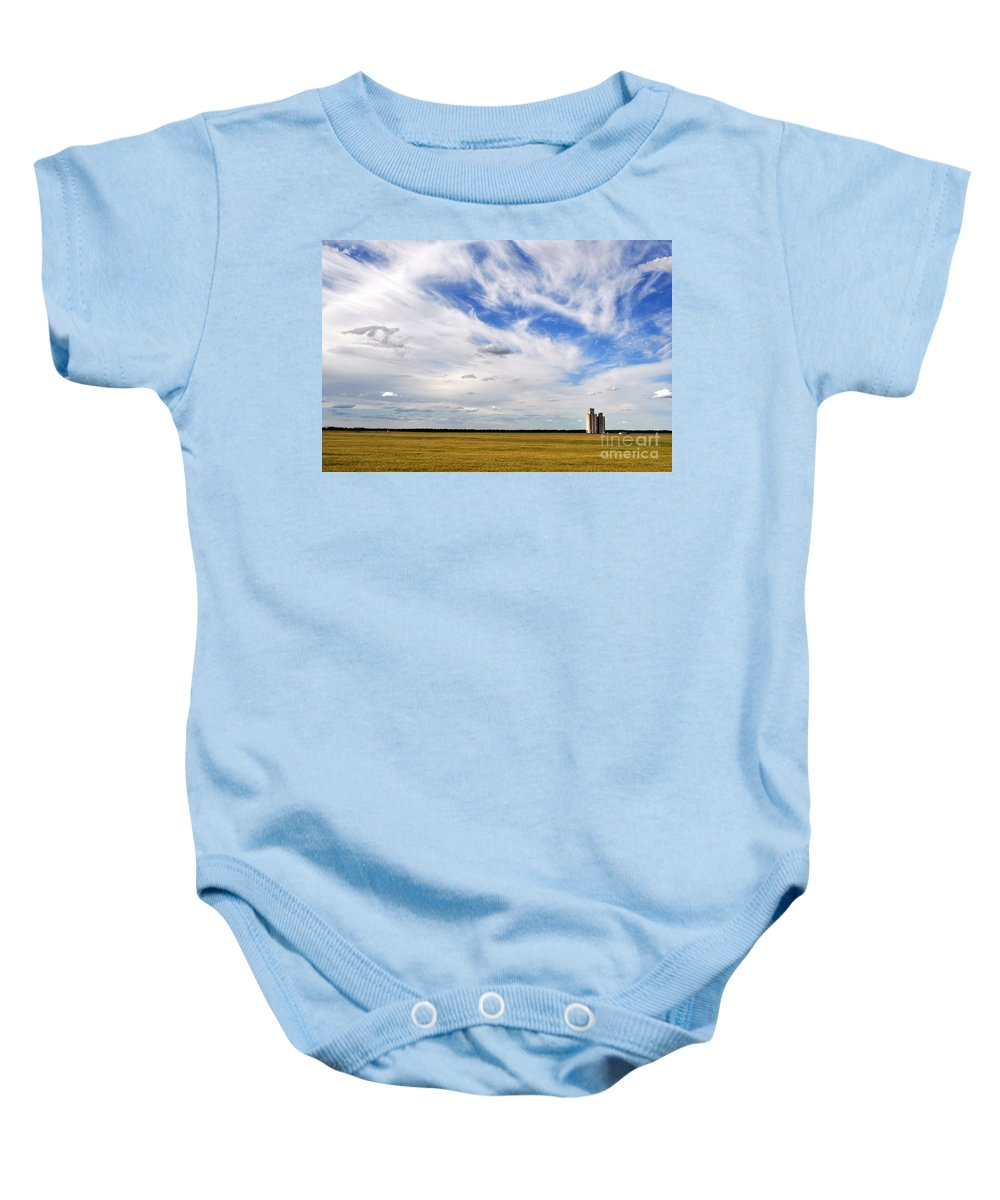 Blue Baby Onesie featuring the photograph Into The Wide Open by Anjanette Douglas