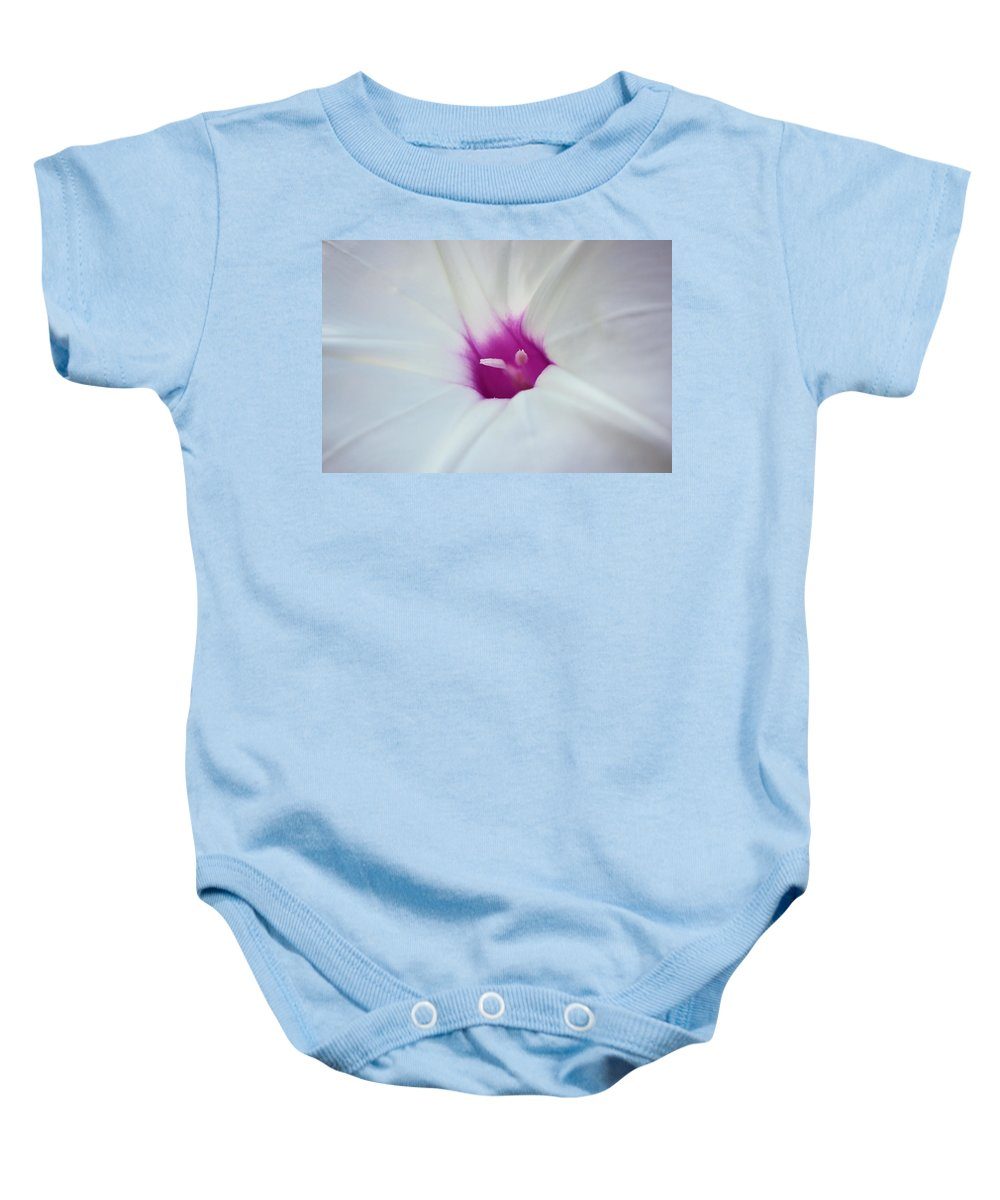 J.d. Grimes Baby Onesie featuring the photograph Ipomoea by JD Grimes