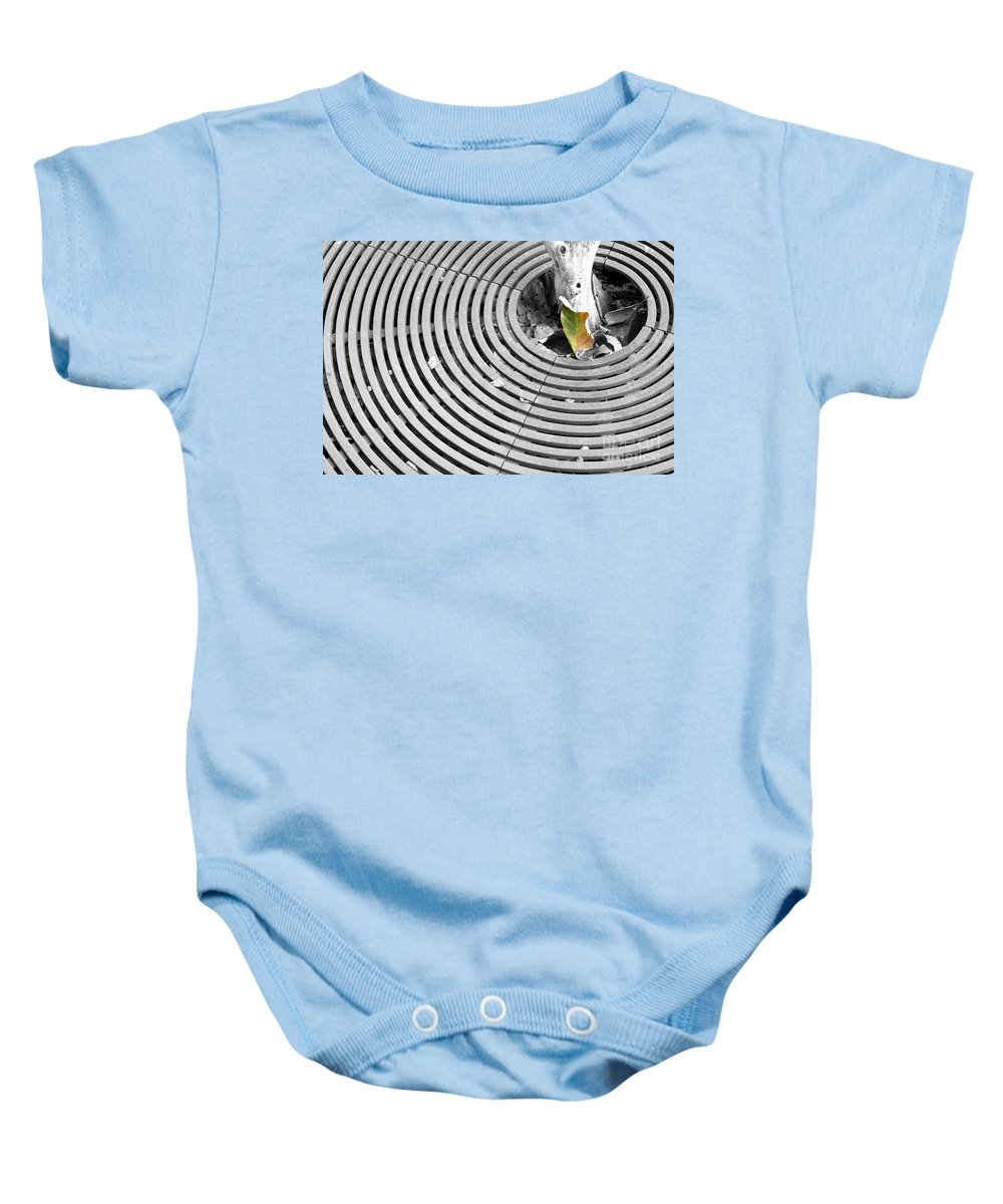 Green Baby Onesie featuring the photograph Iron Ripples by Alycia Christine