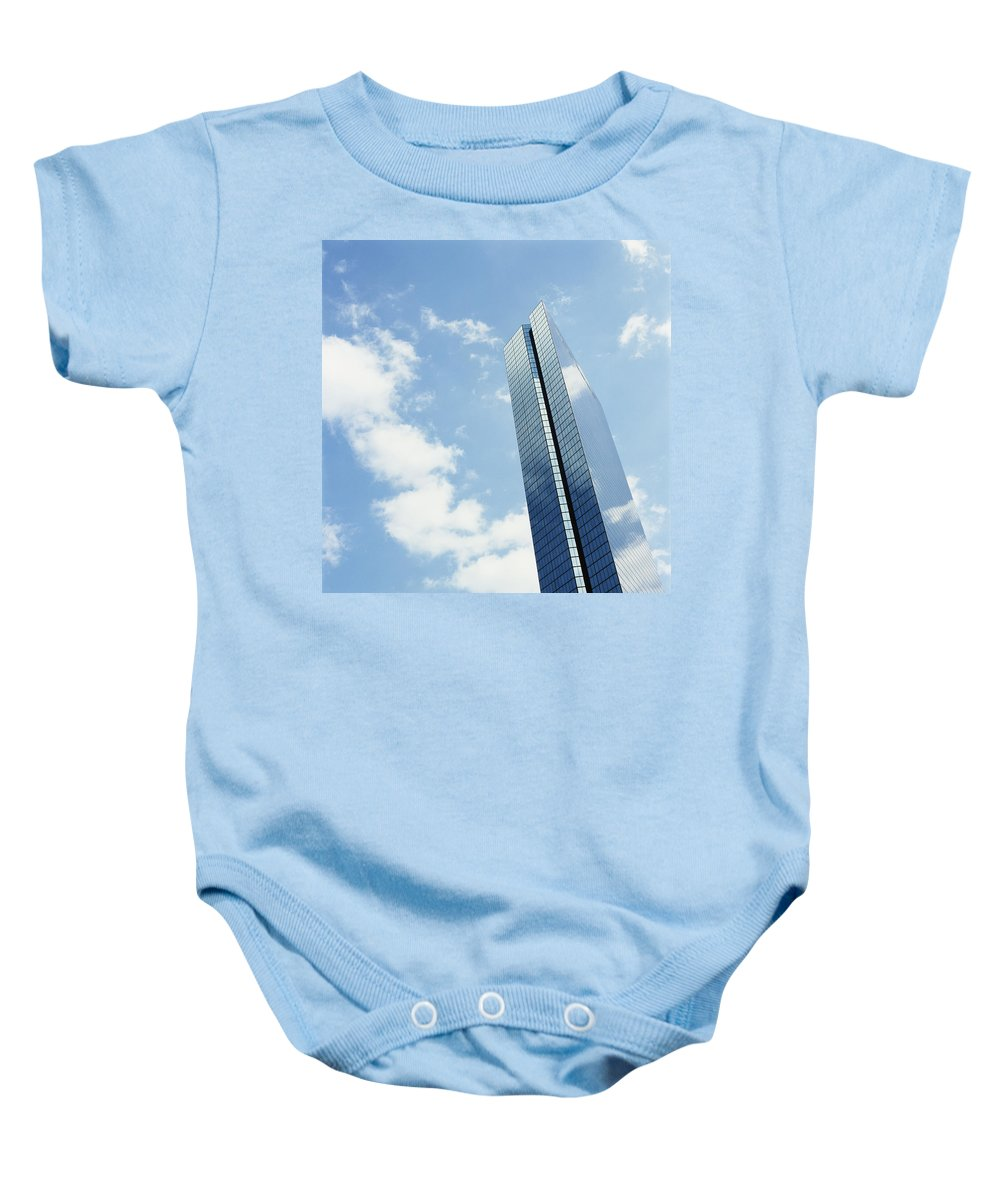 Windows Baby Onesie featuring the photograph John Hancock Tower, Copley Square by Axiom Photographic