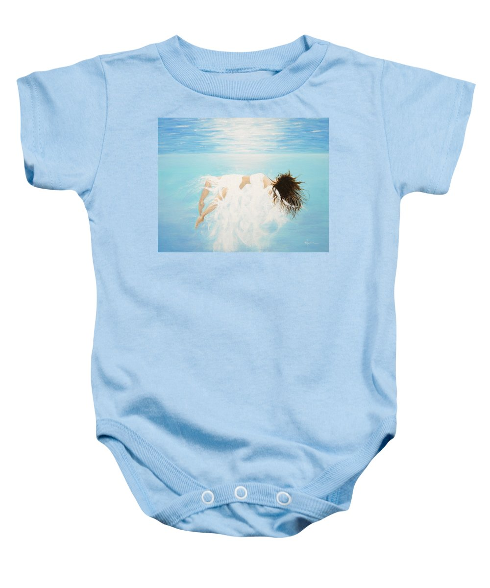 Water Baby Onesie featuring the painting Lady Of The Water by Kume Bryant