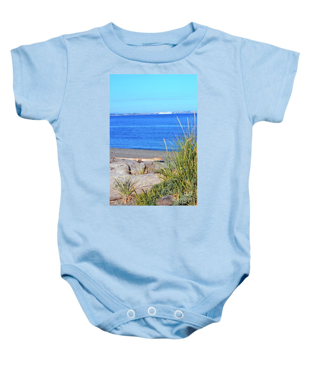 British Columbia Baby Onesie featuring the photograph Lagoon 2 by Traci Cottingham