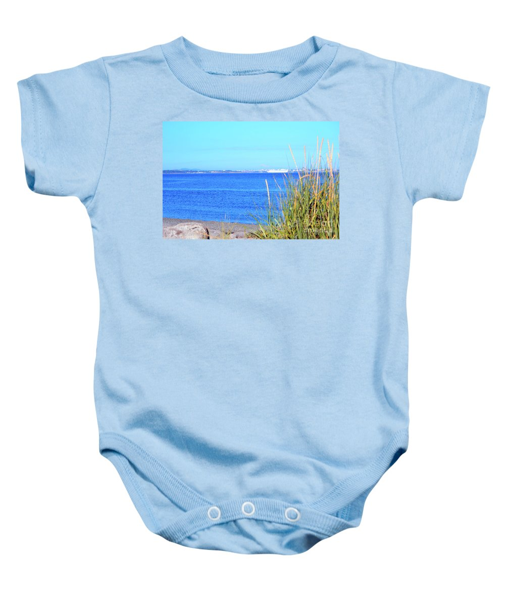British Columbia Baby Onesie featuring the photograph Lagoon by Traci Cottingham