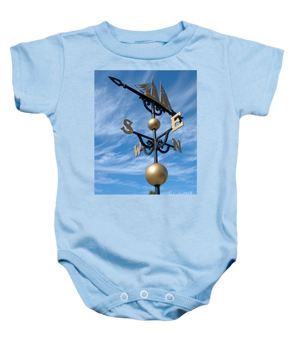 Ann Horn Baby Onesie featuring the photograph Largest Weathervane by Ann Horn