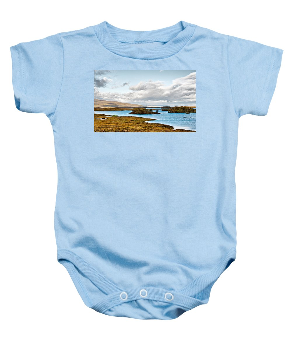 Loch Ba Baby Onesie featuring the photograph Loch Ba View by Chris Thaxter