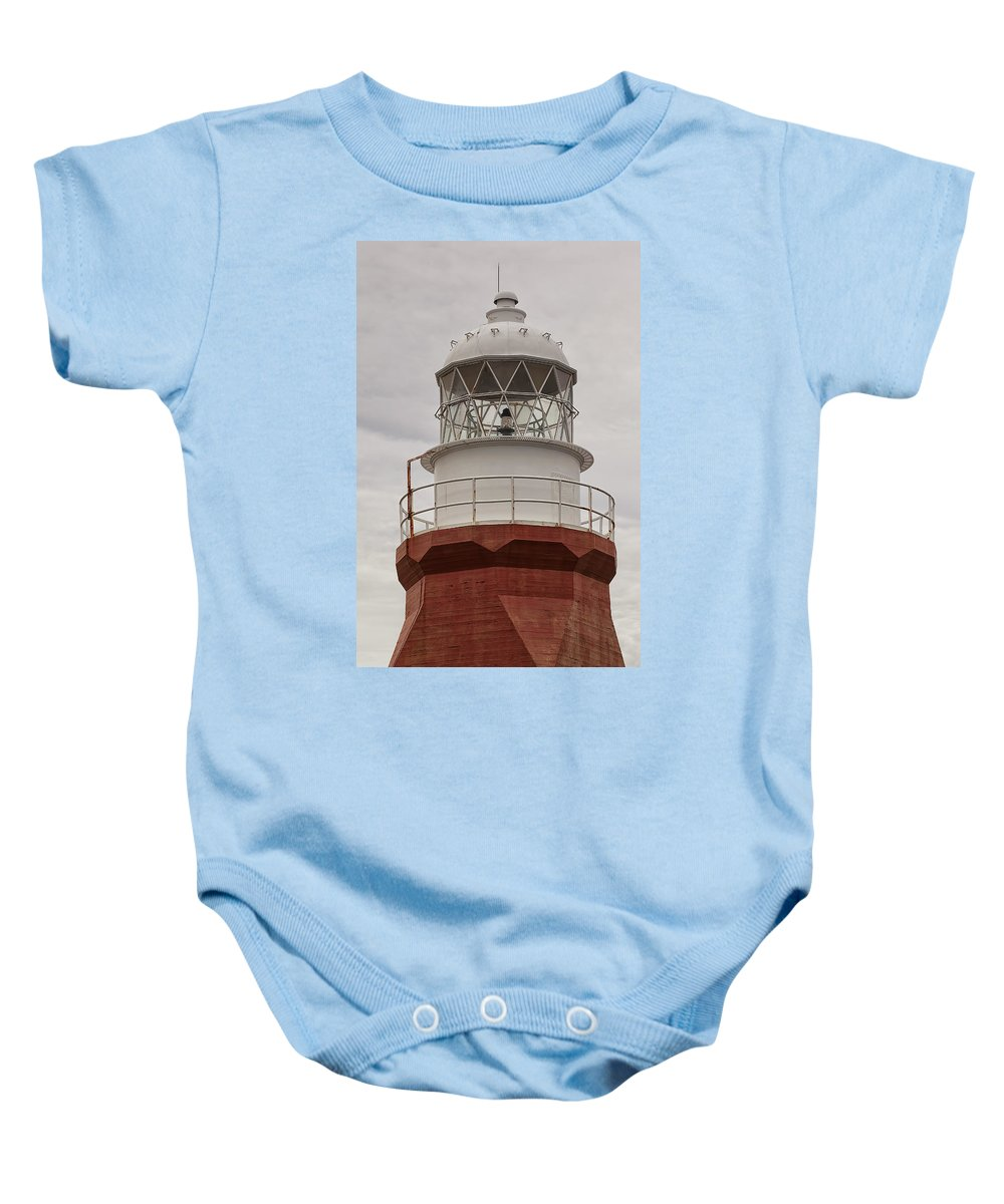 Lighthouse Newfoundland long Point Maritime Atlantic Canada crow Head Twillingate twillingate Island Baby Onesie featuring the photograph Long Point Lighthouse by Eunice Gibb