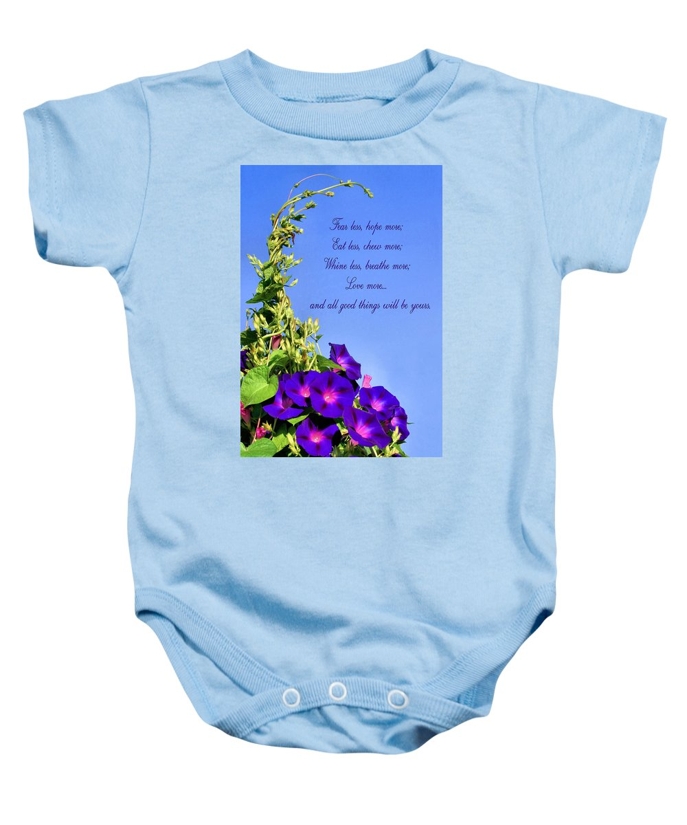 Love More Baby Onesie featuring the photograph Love More by Kristin Elmquist