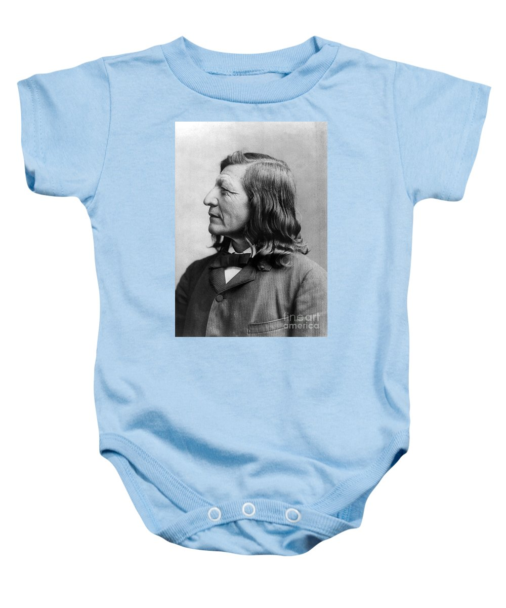 1891 Baby Onesie featuring the photograph Luther Standing Bear by Granger