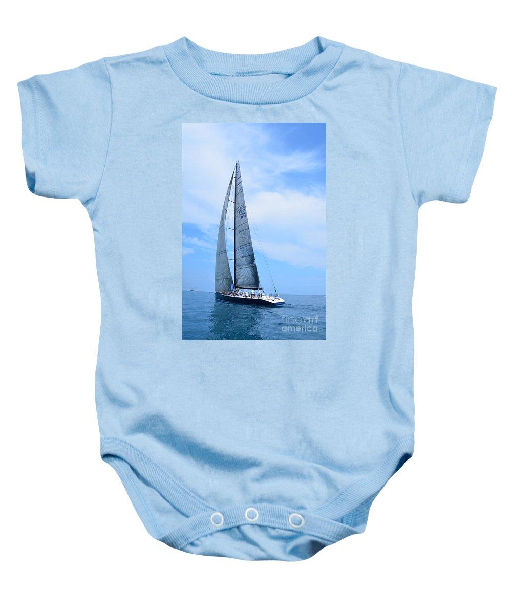 Sailboat Baby Onesie featuring the photograph Mackinac Race by Randy J Heath