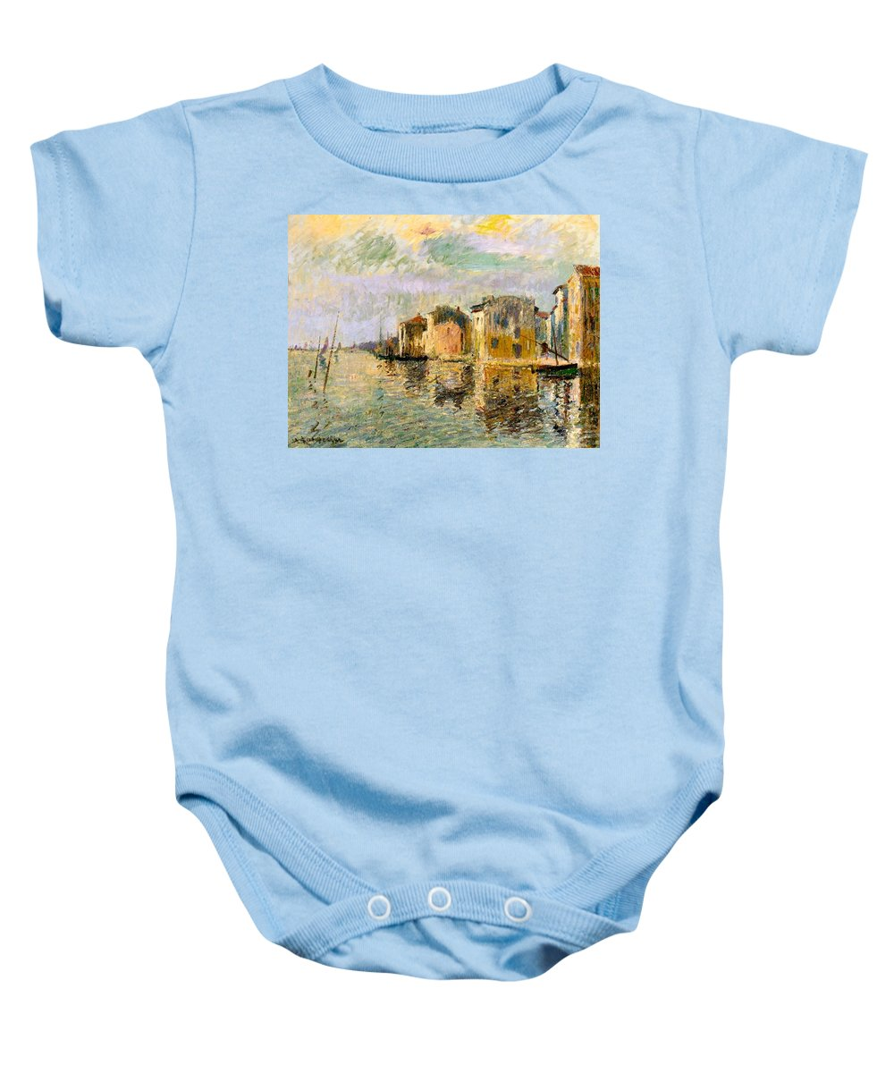 Martigues Baby Onesie featuring the painting Martigues In The South Of France by Gustave Loiseau