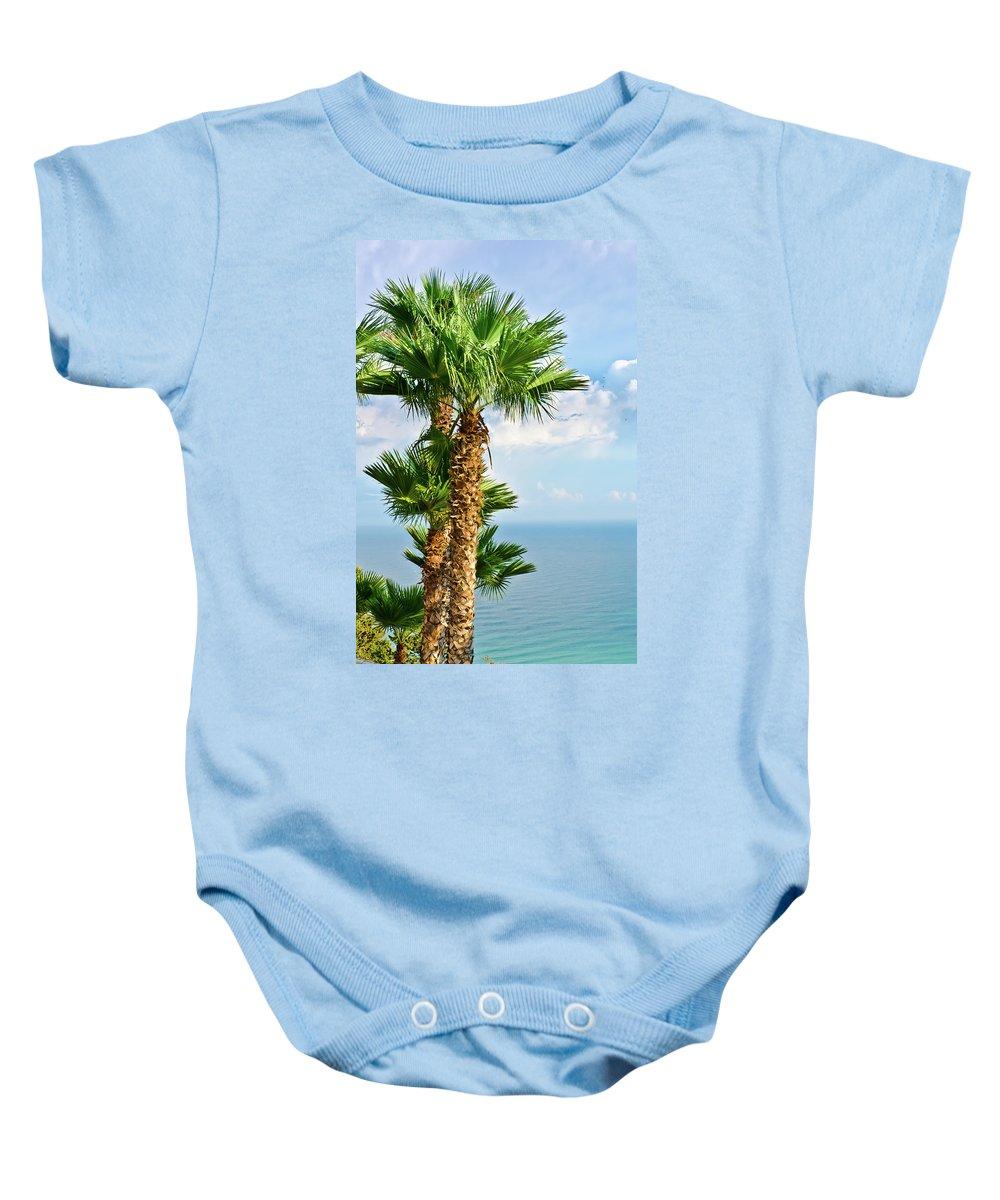 Landscape Baby Onesie featuring the photograph Mediterranean Landscape by Michael Goyberg