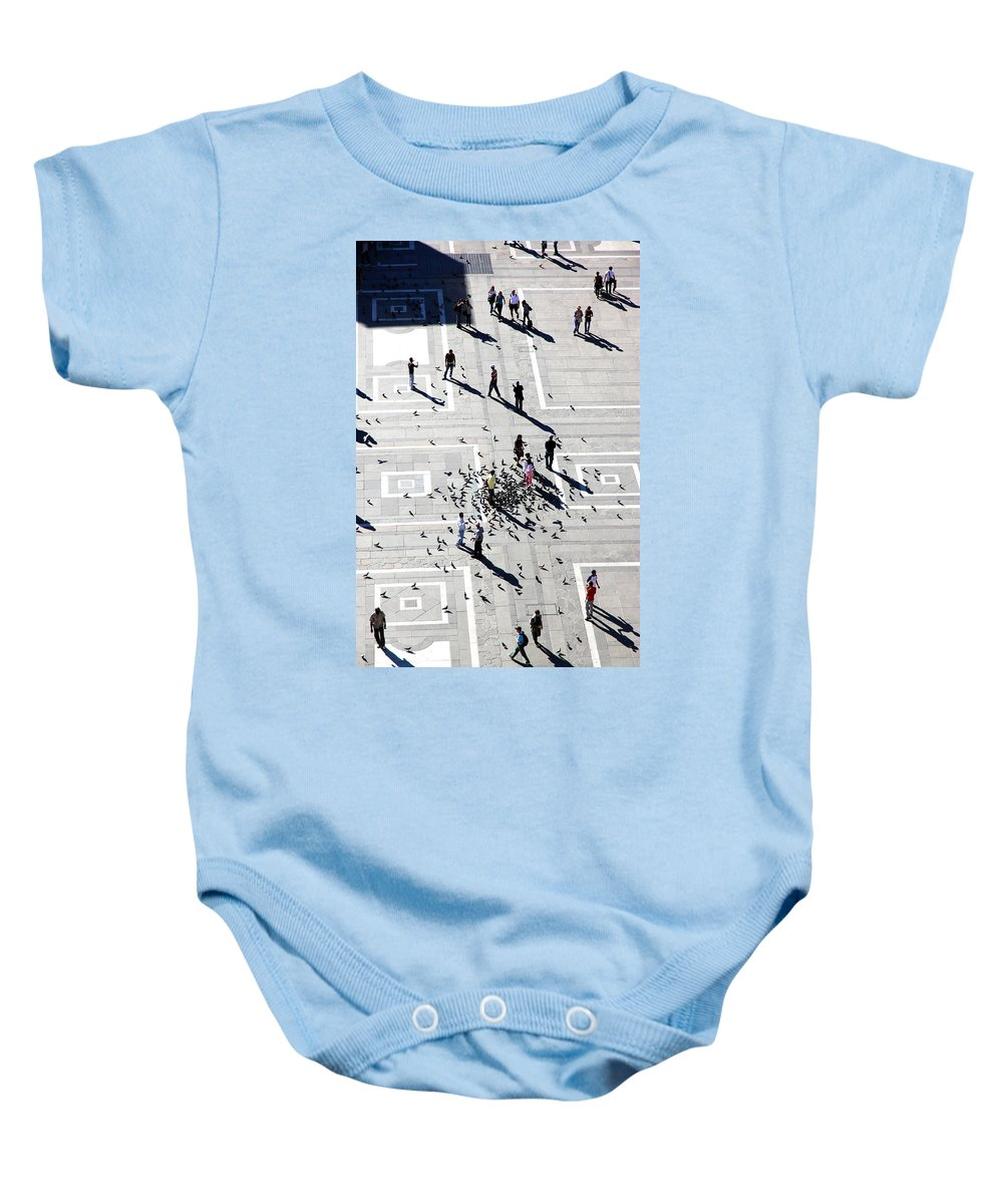 Milan Baby Onesie featuring the photograph Milan Duomo Square by Valentino Visentini