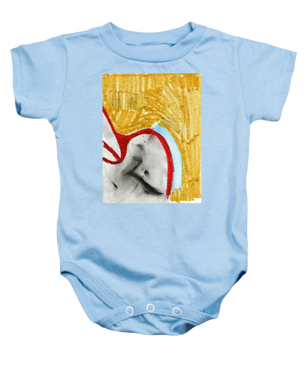 Mixed Growth Baby Onesie featuring the painting Mixed Growth by Taylor Webb