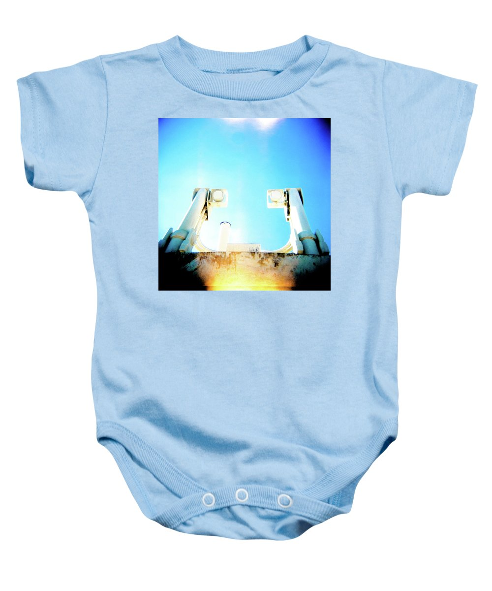 Holga Baby Onesie featuring the photograph Monster Eyes by Olivier De Rycke