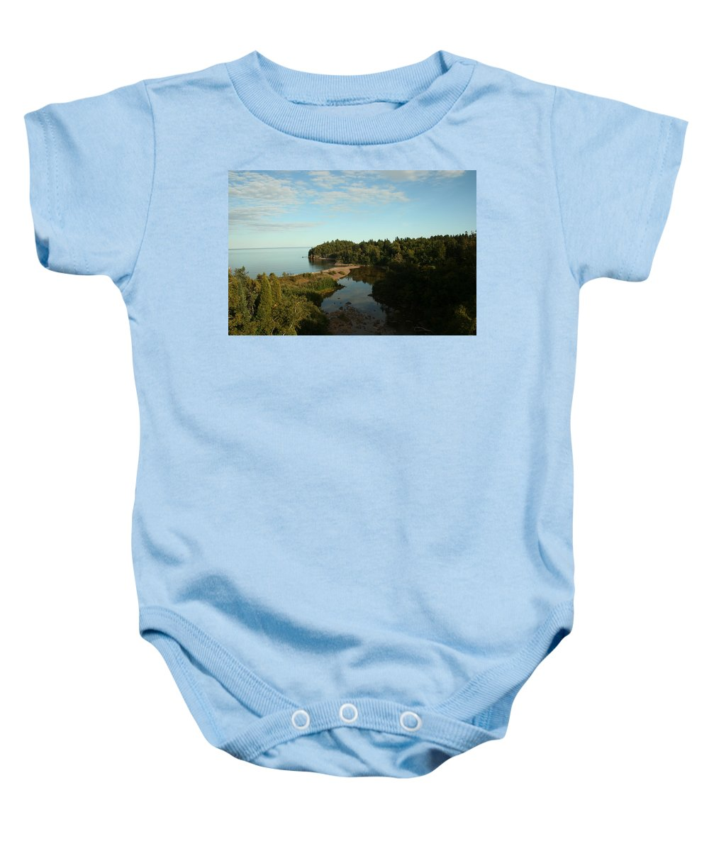 Baby Onesie featuring the photograph Mouth Of Beaver River by Joi Electa