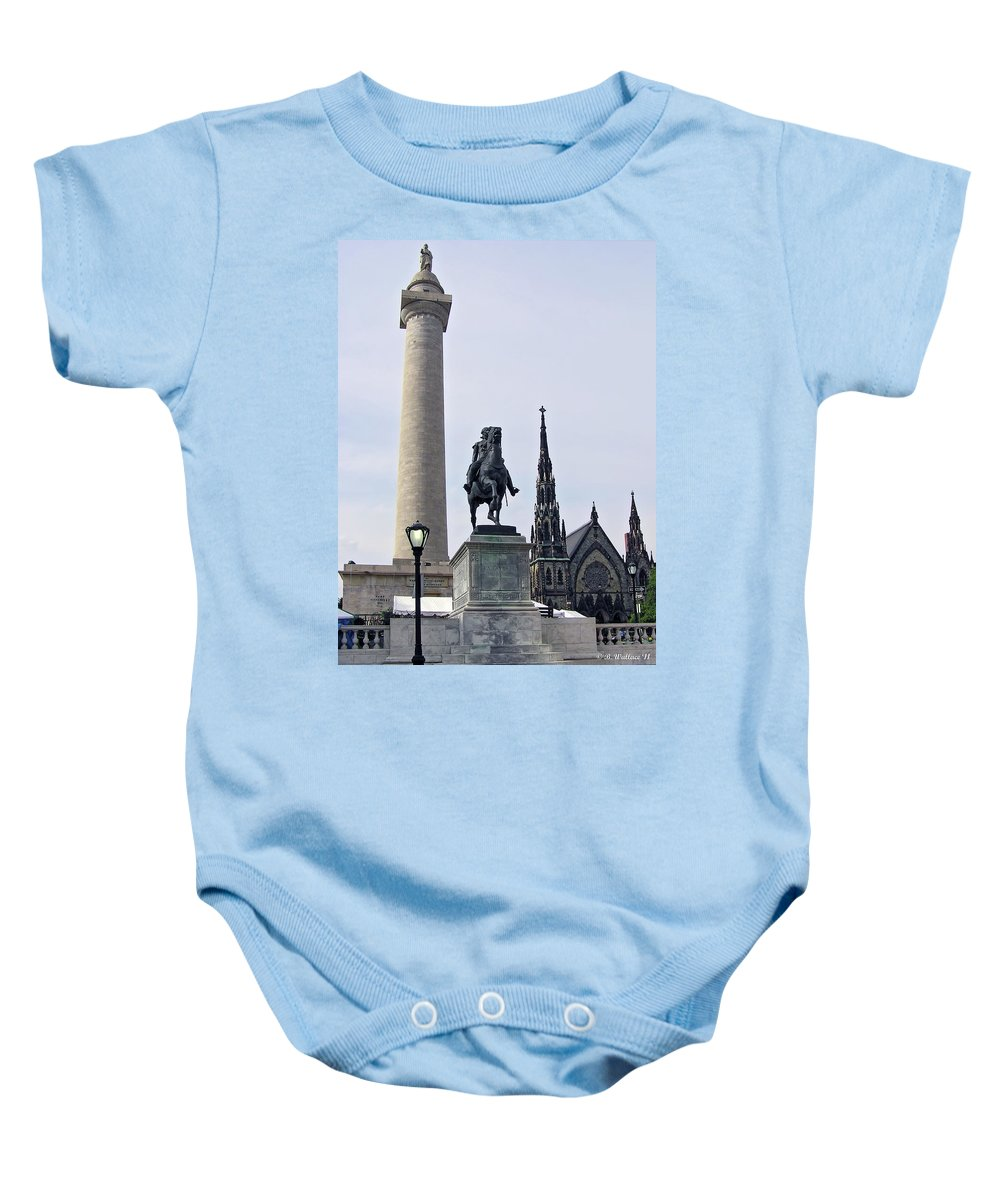 2d Baby Onesie featuring the photograph Mt. Vernon Landmarks by Brian Wallace