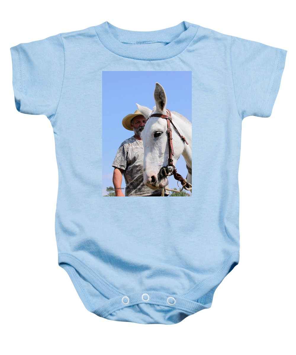 Horses And Mules Baby Onesie featuring the photograph Mules At Benson Mule Day by Travis Truelove