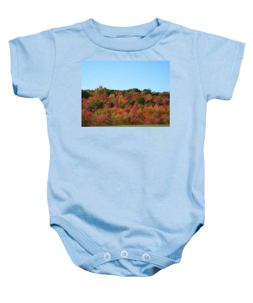 Autumn Baby Onesie featuring the photograph Natures Colors by Aimee L Maher ALM GALLERY