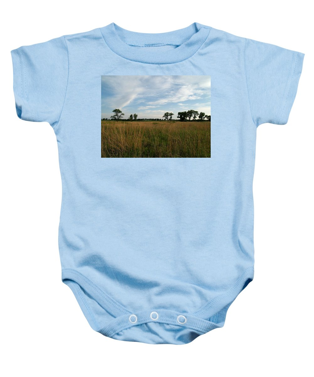 Beatrice Baby Onesie featuring the photograph Nebraska Prairie One by Joshua House