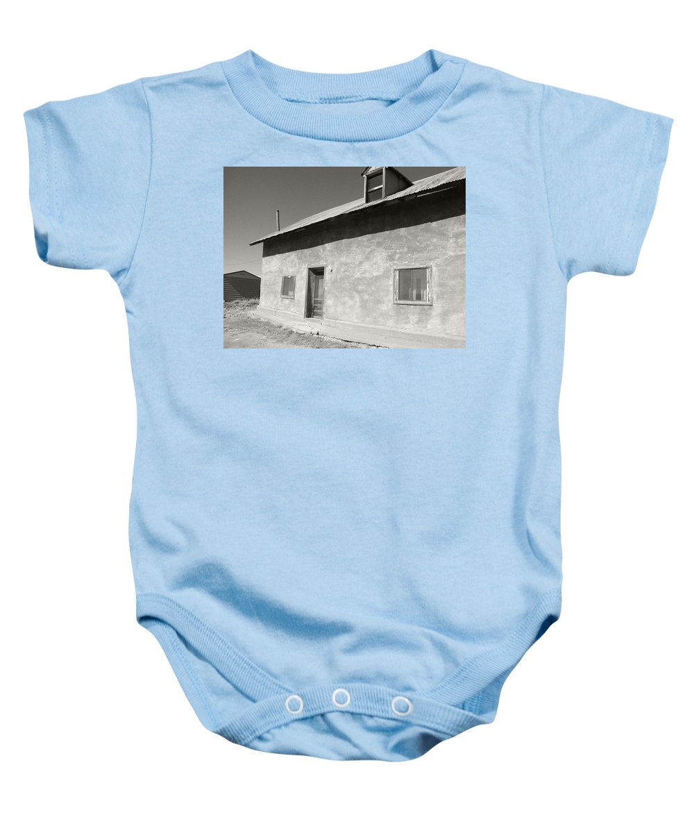 House Baby Onesie featuring the photograph New Mexico Series - Adobe House In Truchas by Kathleen Grace