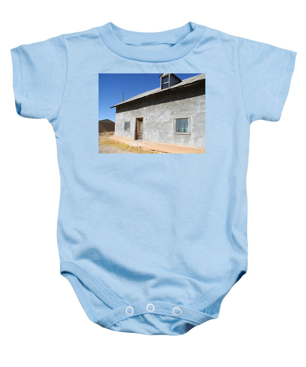 New Mexico Baby Onesie featuring the photograph New Mexico Series - House In Truchas by Kathleen Grace