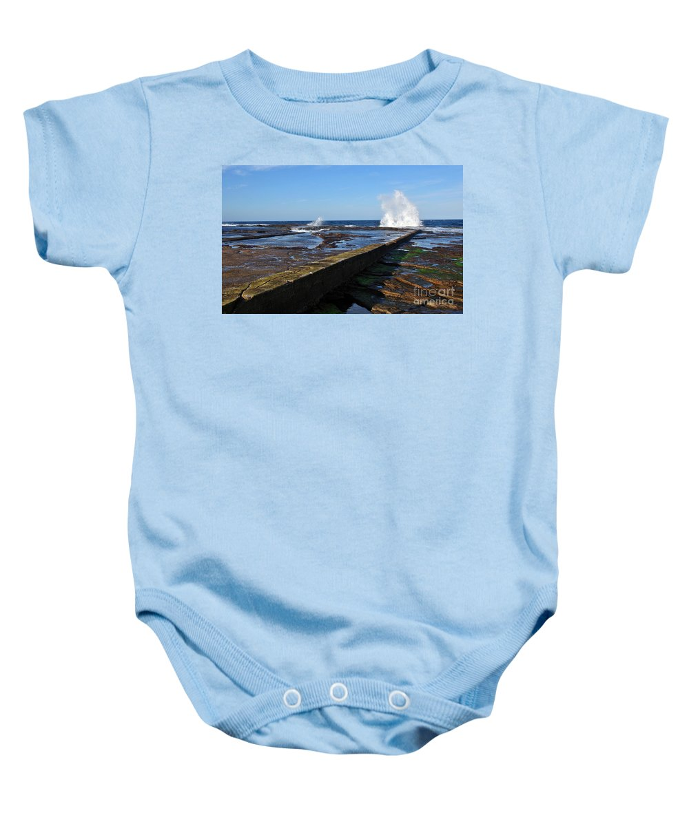 Photography Baby Onesie featuring the photograph Ocean View by Kaye Menner