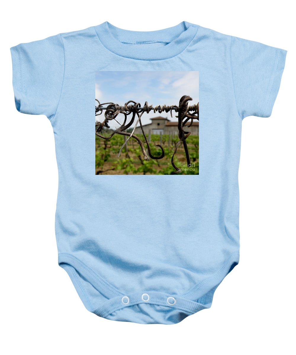 Vineyard Baby Onesie featuring the photograph Old And New by Lainie Wrightson