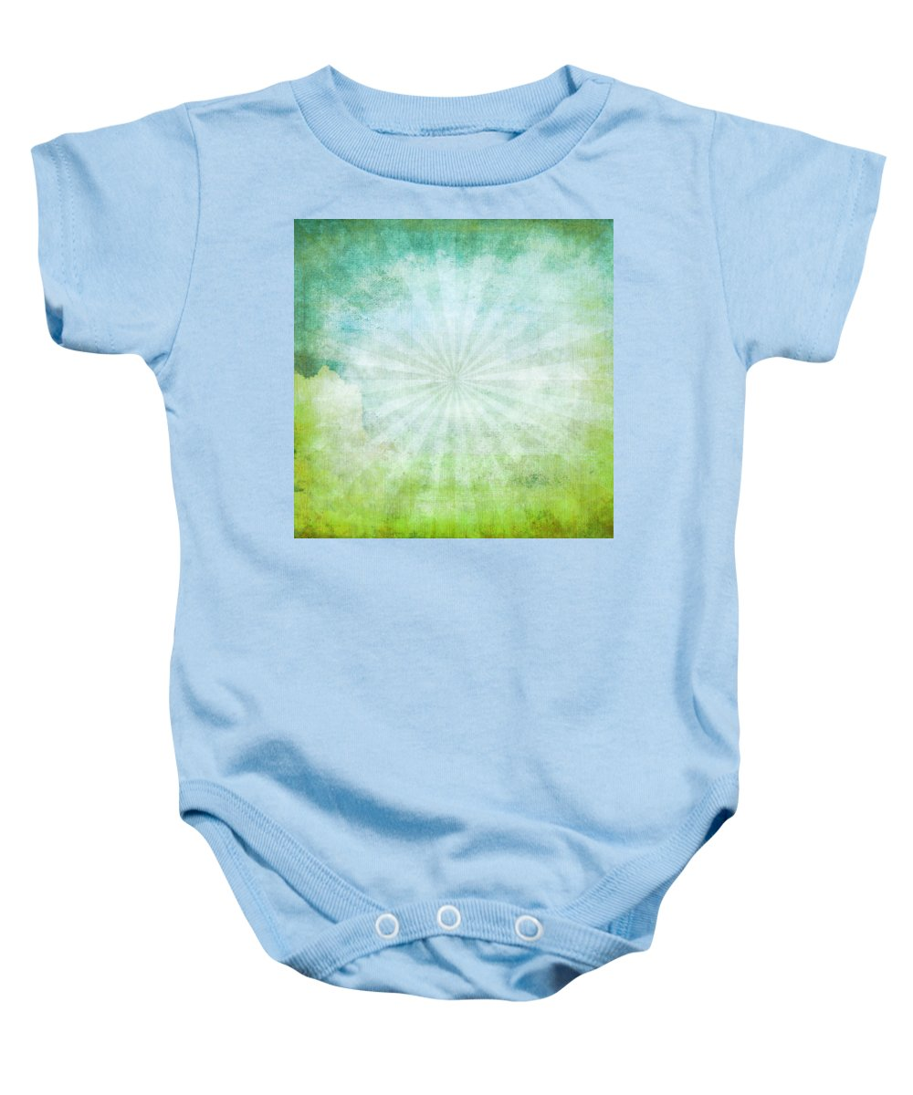 Abstract Baby Onesie featuring the photograph Old Grunge Paper by Setsiri Silapasuwanchai