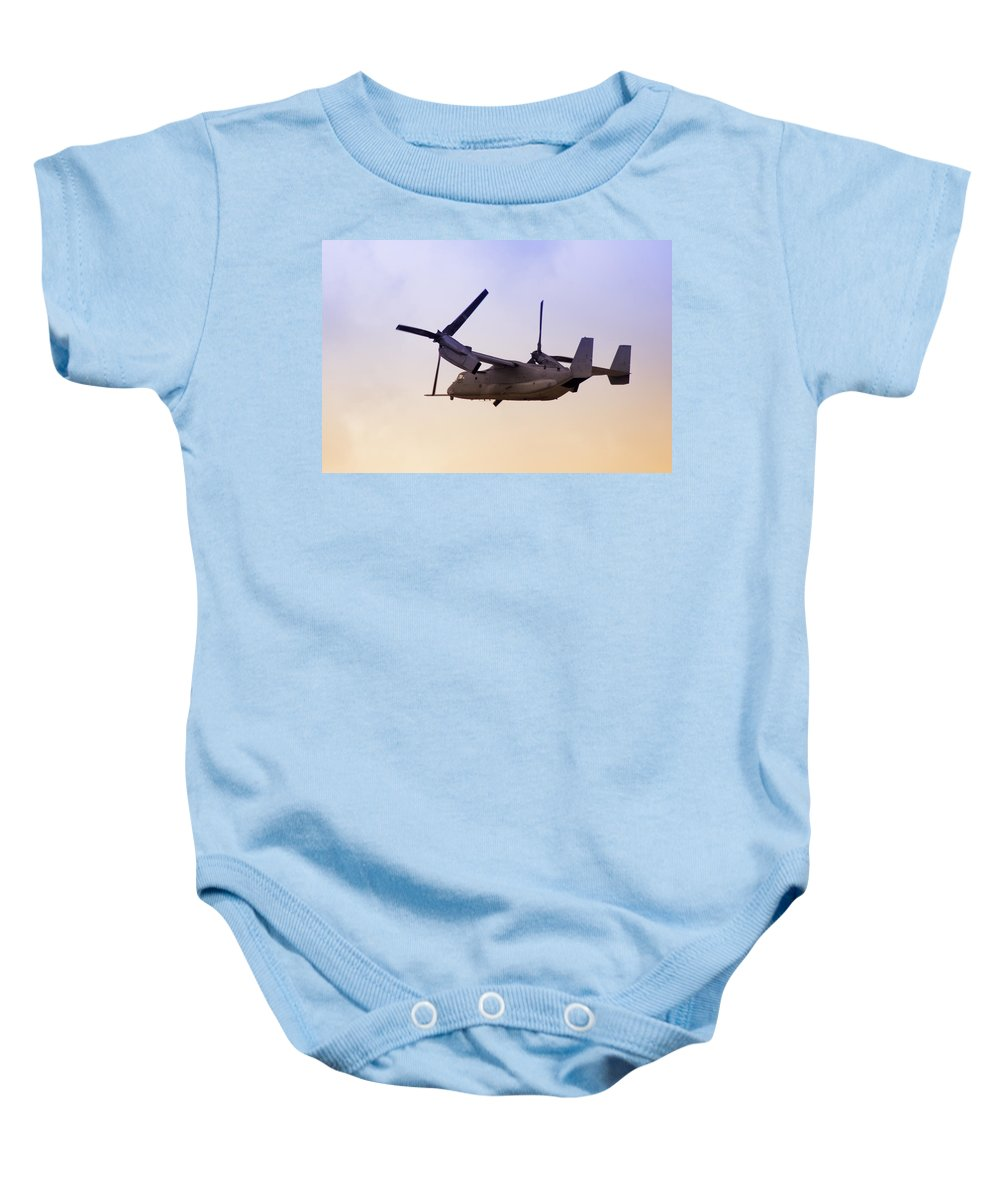 Advanced Baby Onesie featuring the photograph Osprey In Flight Iv by Ricky Barnard