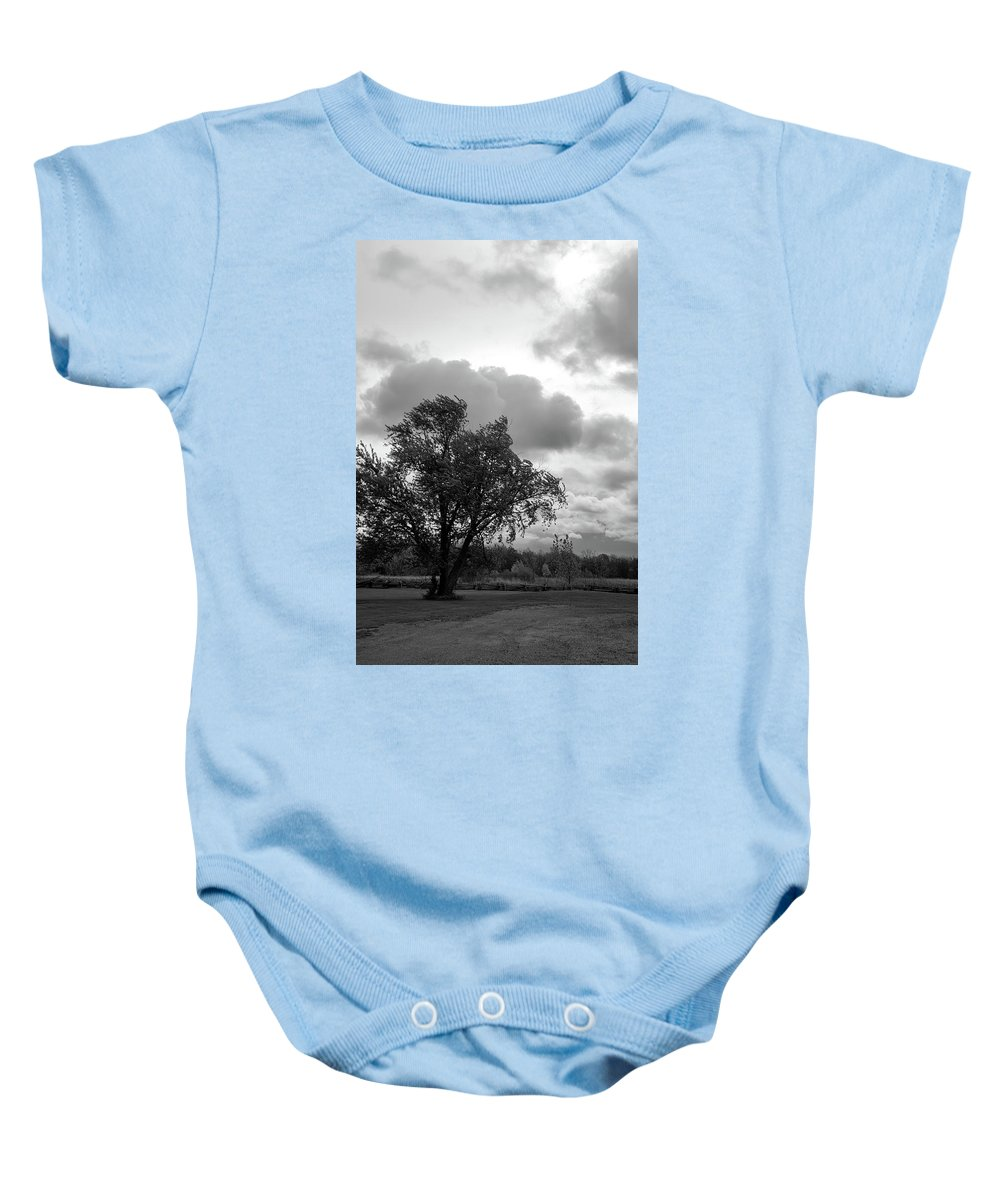 Tree Baby Onesie featuring the photograph R I P by Guy Whiteley