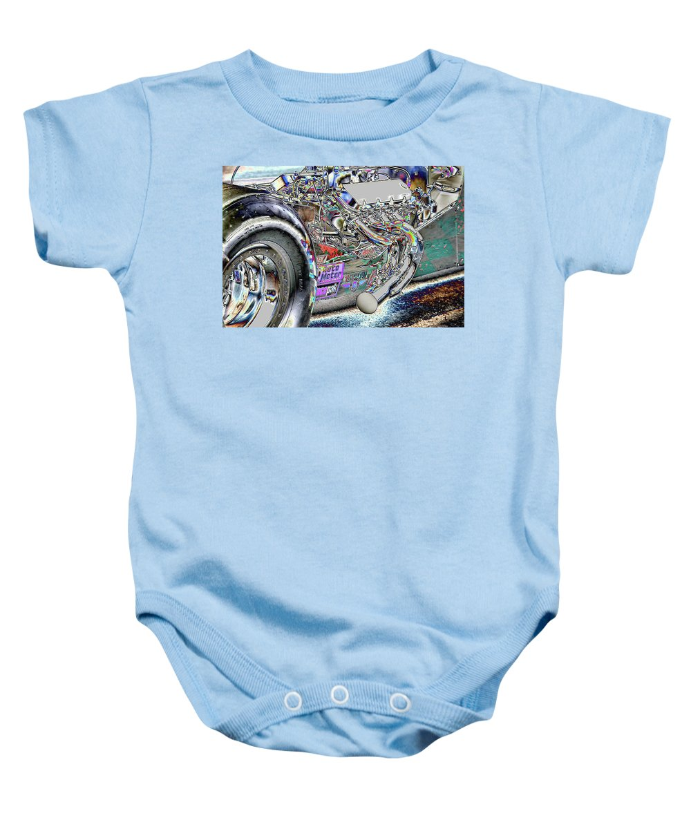 Racing Baby Onesie featuring the photograph Racin' by Michael Merry