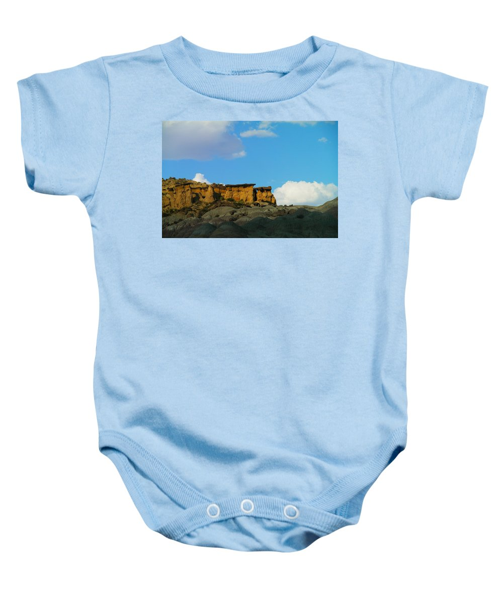 Mountains Baby Onesie featuring the photograph Red Rock In New Mexico by Jeff Swan