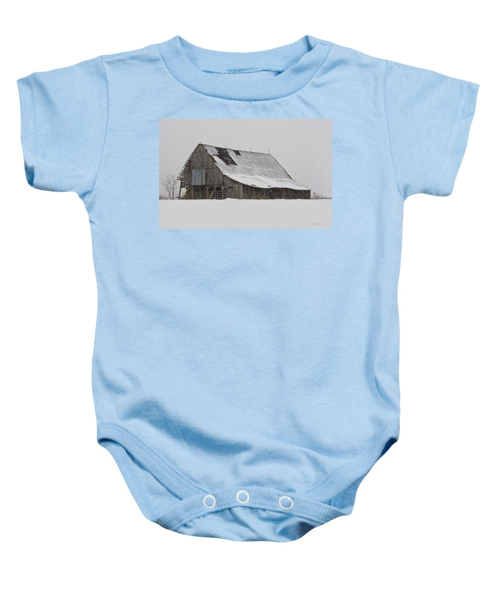 Winter Baby Onesie featuring the photograph Repairs Needed by Ron Jones