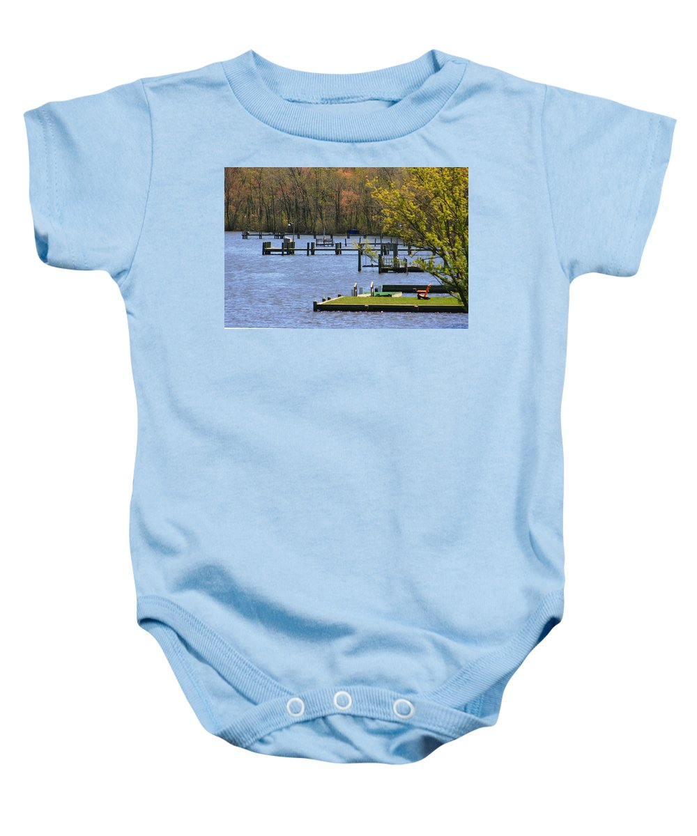 Lake Baby Onesie featuring the photograph Rollin On The ..... by Phil Cappiali Jr