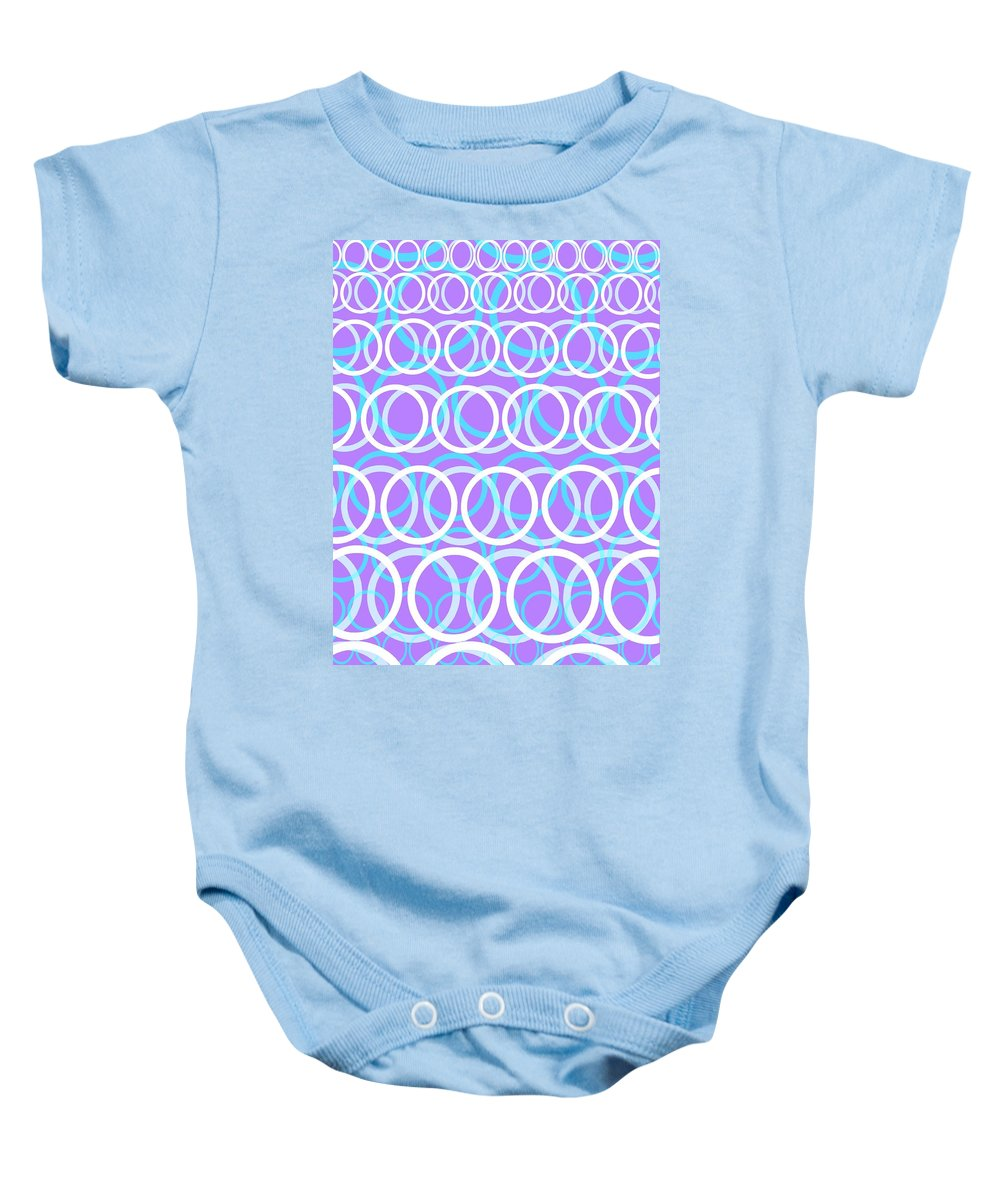 Circle Baby Onesie featuring the digital art Round Cirlces by Louisa Knight