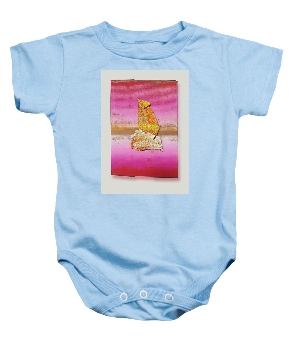 Sail Baby Onesie featuring the painting Sail Away by Charles Stuart