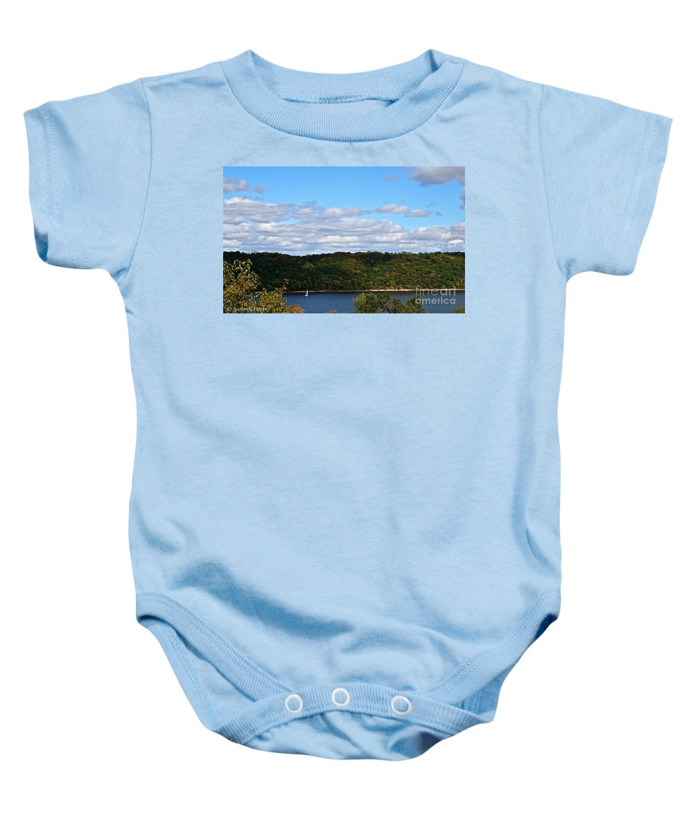 Landscape Baby Onesie featuring the photograph Sailing Summer Away by Susan Herber
